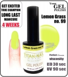 Hybrydowy lakier - GEL Polish 15ml - soak off - Lemon Grass (no. 99)