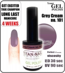 Żel Hybrydowy - GEL Polish 8ml - soak off - Grey Cream (no. 101)