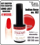 Żel Hybrydowy - GEL Polish 8ml - soak off - Indian Rose (no. 102)