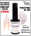 GEL Polish 15ml - soak off - French Pink (no. 103)