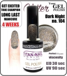 Hybrydowy lakier - GEL Polish 15ml - soak off - Dark Nights (no. 104) new year