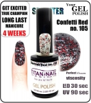 Żel Hybrydowy - GEL Polish 15ml - soak off - glamour red (no. 105)