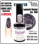 Żel Hybrydowy - GEL Polish 15ml - soak off - glamour violett (no. 106)