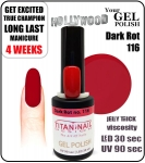 GEL Polish 8ml - soak off - Dark Rot (no. 116)