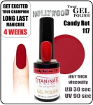 Żel Hybrydowy - GEL Polish 8ml - soak off - Candy Rot (no. 117)