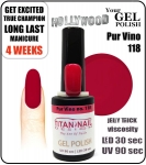 Hybrydowy lakier - GEL Polish - Soak Off 8ml - Pur Vino (no. 118)