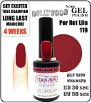 GEL Polish - Soak Off 15ml - Pur Rot Lila (no. 119)