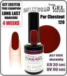 GEL Polish - Soak Off 15ml - Pur Chestnut (no. 120)