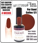 GEL Polish - Soak Off 15ml - Pur Iland Coffee (no. 121)