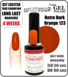 Żel Hybrydowy - GEL Polish 15ml - soak off - Retro Dark Orange (no. 123)