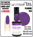Żel Hybrydowy - GEL Polish 8ml - soak off - Plaume / Plum (no. 134)