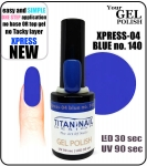 Żel Hybrydowy - GEL Polish 8ml - soak off - XPRESS-04 BLUE (no. 140)