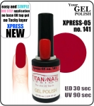 GEL Polish 15ml - soak off -  XPRESS-05 RED (no. 141)