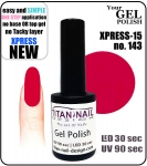 Żel Hybrydowy - GEL Polish 8ml - soak off - XPRESS-15 RASPBERRY (no. 143)