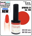 GEL Polish 8ml - soak off - XPRESS-21 ORANGE (no. 144)