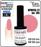 Żel Hybrydowy - GEL Polish 8ml - soak off - XPRESS-27 ROSE (no. 145)