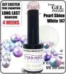 Żelowy lakier 8ml Gel Polish - Pearl Shine White (no. 147)