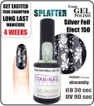 hybrydowy lakier - GEL Polish 15ml - soak off - Silver Foil Effect (no. 150)