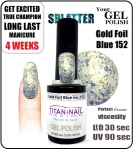 GEL Polish 8ml - soak off - Gold Foil Blue (no. 152)