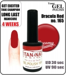 GEL Polish 8ml - soak off - Dracula Red (no. 165)