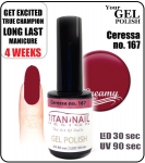 hybrydowy lakier - GEL Polish 8ml - soak off - Cereza (no. 167)