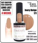 GEL Polish 15ml - soak off - Ivory beige (171)
