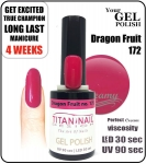 Hybrydowy lakier - GEL Polish 8ml - soak off - Dragon Fruit (no. 172)