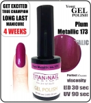 Hybrydowy lakier - GEL Polish 8ml - soak off - Metallic Plum (no. 173)