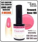 Hybrydowy lakier - GEL Polish 8ml - soak off - Firework neon (no. 180)