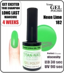 Hybrydowy lakier - GEL Polish 15ml - soak off - Neon lime (no. 182)