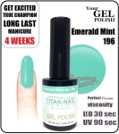 GEL Polish 8ml - soak off - Emerald mint (no. 196)