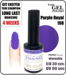Hybrydowy lakier - GEL Polish 8ml - soak off - Purple royal (no. 198) autumn