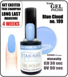Hybrydowy lakier - GEL Polish 8ml - soak off - Blue cloud (no. 199)