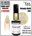 Hybrydowy lakier - GEL Polish 15ml - soak off - Beauty gold (no. 202)