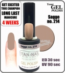 GEL Polish 15ml - soak off - Sagge (no. 214)