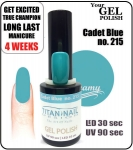 Hybrydowy lakier - GEL Polish 15ml - soak off - Cadet Blue (no. 215)