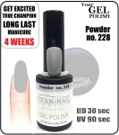 Hybrydowy lakier - GEL Polish 8ml - soak off - Powder (no. 228)