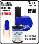 Hybrydowy lakier - GEL Polish 8ml - soak off - Admiral (no. 230)