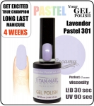 GEL Polish 8ml - soak off - Pastel lavender (no. 301)