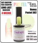 GEL Polish 15ml - soak off - Pastel honey (no. 302)