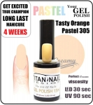 hybrydowy lakier - GEL Polish 15ml - soak off - Tasty pastel orange (no. 305) autumn