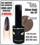 Magnetico GEL Polish 15ml - soak off - Silver-Gold Effect-M (no. 57) cat eye