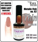 GEL Polish 8ml - soak off - metalic fish (no. 62)