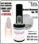 GEL Polish 8ml - soak off - brokat diamond (no. 79)
