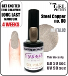 Żel Hybrydowy - GEL Polish 8ml - soak off - steel cooper (no. 80)