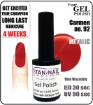 Żel Hybrydowy - GEL Polish 8ml - soak off - Carmen (no. 92)