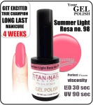 GEL Polish 8ml - soak off - Summer light rosa (no. 98)