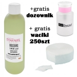 Tip remover remover 1000ml + GRATIS dispenser + Nailwippes