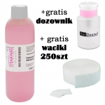 Nail polish remover acetone-free 1000 ml  + GRATIS dispenser + Nailwippes