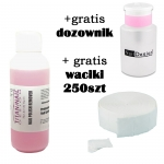 Nail polish remover acetone-free  550ml + GRATIS dispenser + Nailwippes